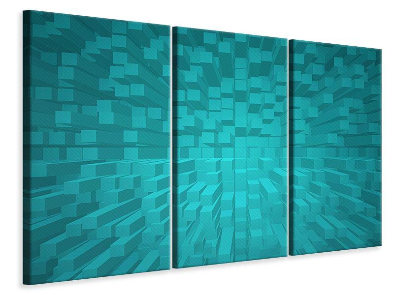 Leinwandbild 3-teilig 3D-Kubusse