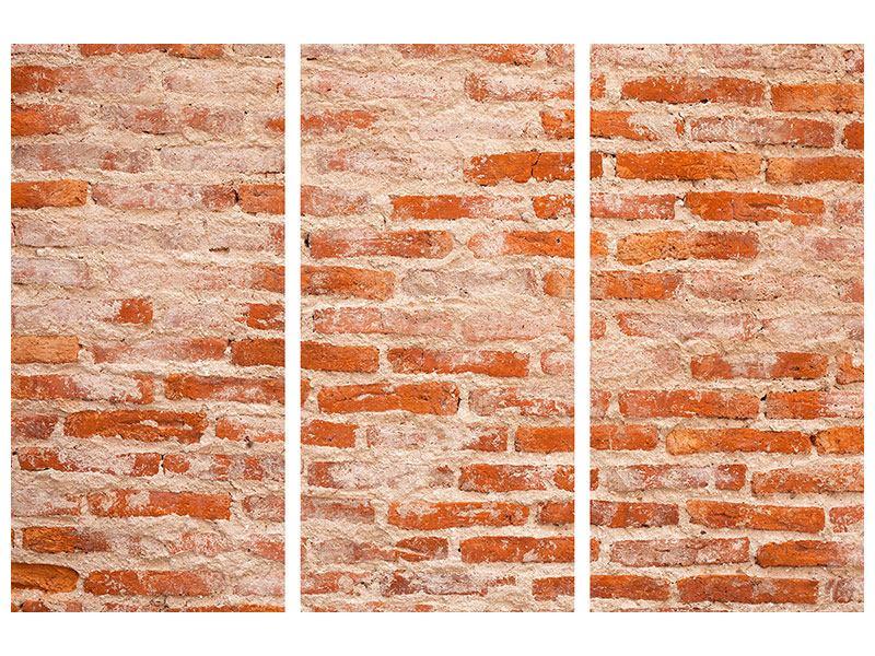 Leinwandbild 3-teilig Mauerwerk