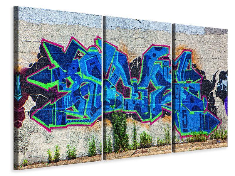 Leinwandbild 3-teilig Graffiti NYC