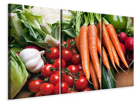 Leinwandbild 3-teilig Gemüse