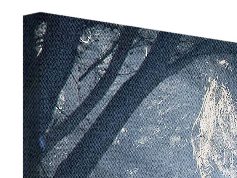 Leinwandbild 3-teilig Lichtdurchflutete Baumallee