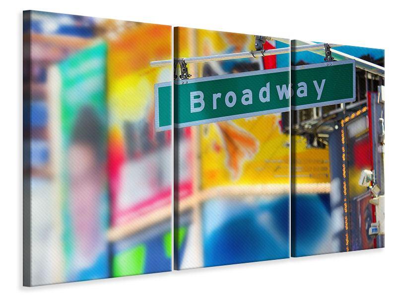 Leinwandbild 3-teilig Broadway