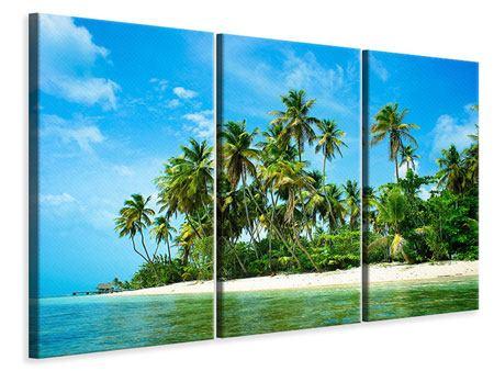 Leinwandbild 3-teilig Reif für die Ferieninsel