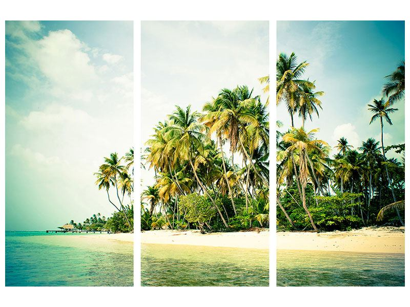 Leinwandbild 3-teilig Tobago Cays