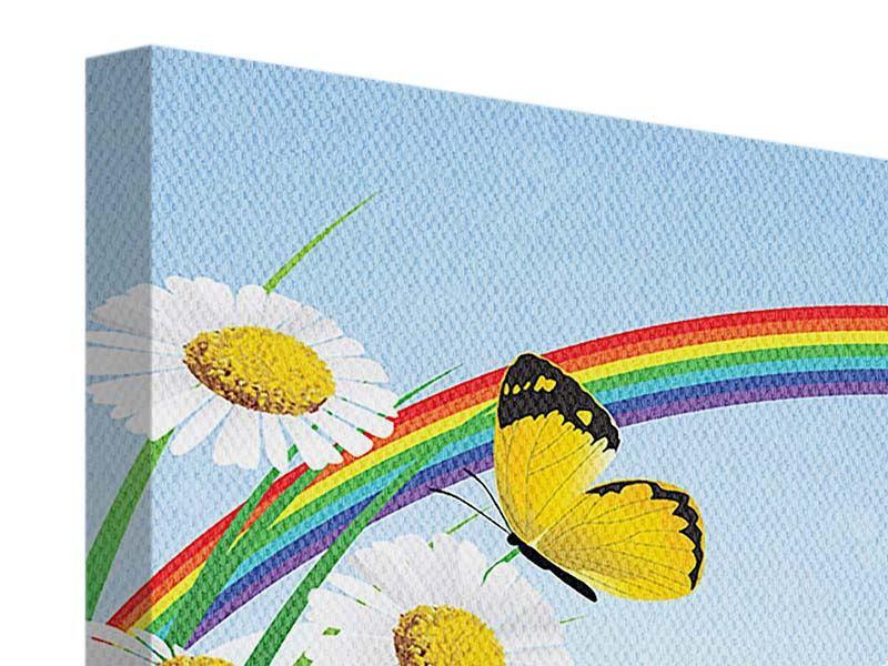 Leinwandbild 3-teilig Der bunte Regenbogen