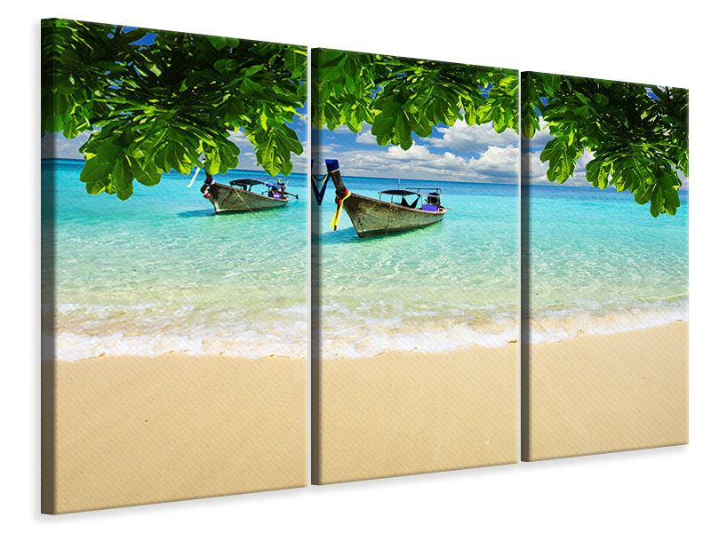 Leinwandbild 3-teilig Ein Blick auf das Meer