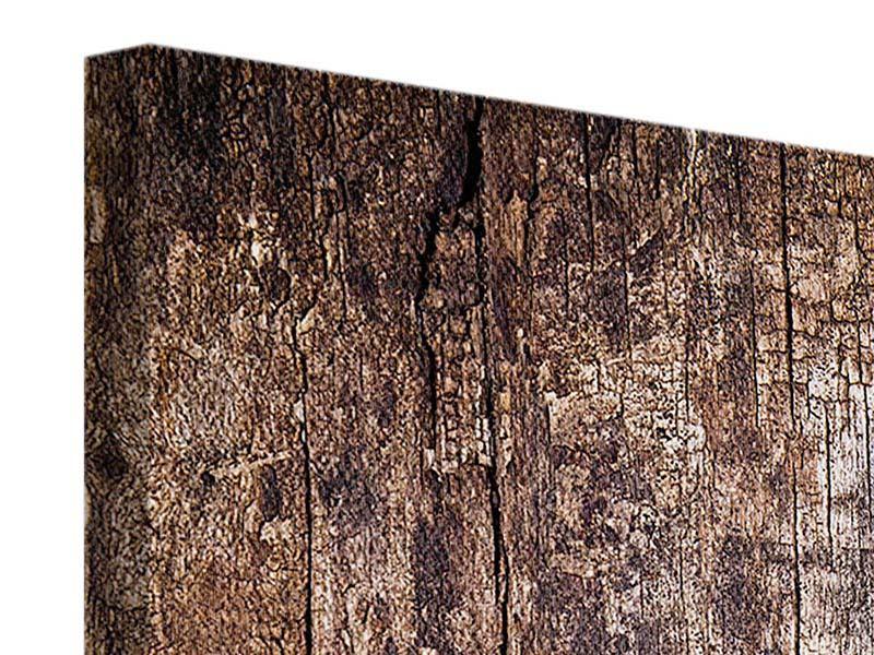 Leinwandbild 3-teilig Retro-Holz