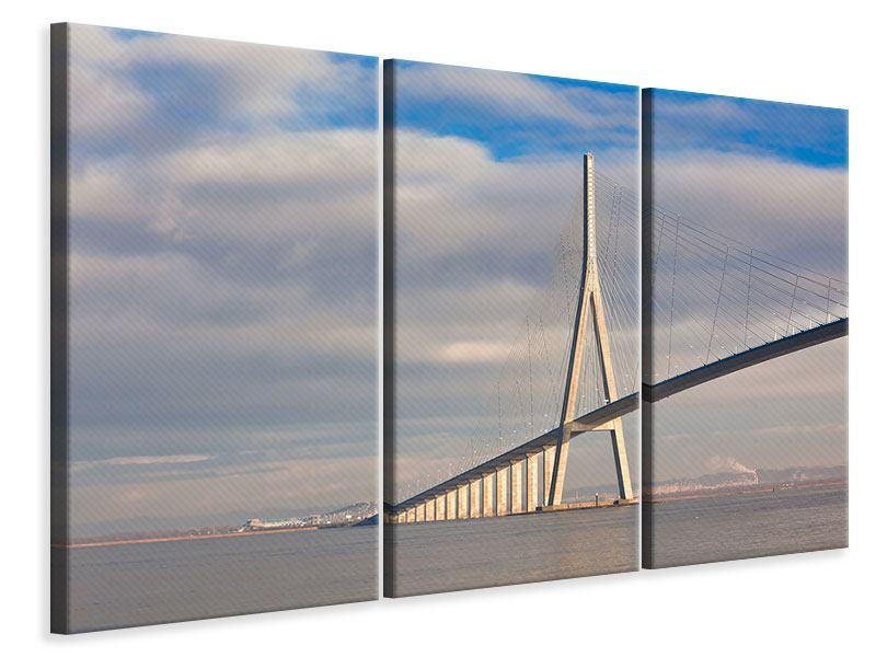 Leinwandbild 3-teilig Pont de Normandie