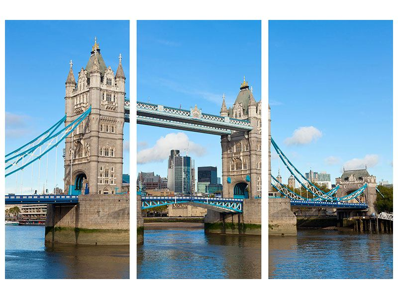 Leinwandbild 3-teilig Die Tower Bridge
