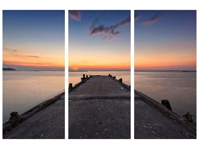 Leinwandbild 3-teilig Der Steg