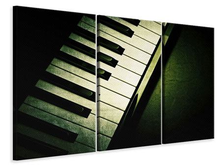 Leinwandbild 3-teilig Close Up Klavier