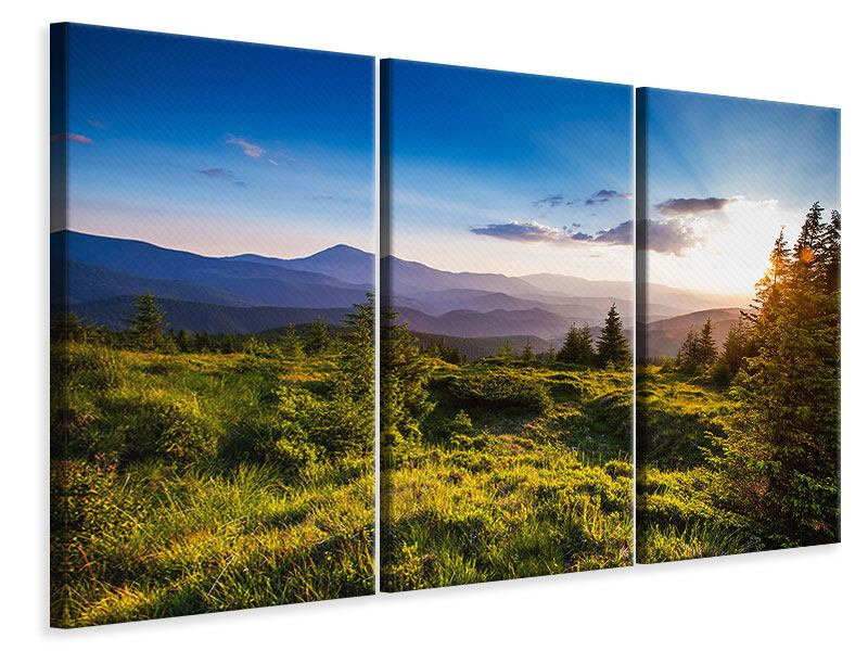 Leinwandbild 3-teilig Friedliche Landschaft