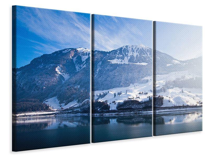 Leinwandbild 3-teilig Winterwunderland