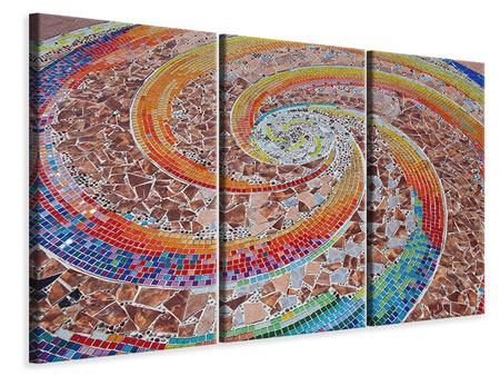 Leinwandbild 3-teilig Mosaik