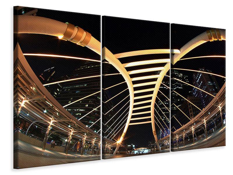 Leinwandbild 3-teilig Avantgardistische Brücke