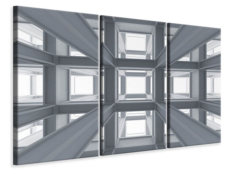 Leinwandbild 3-teilig Räume