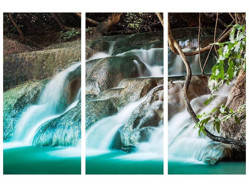 Leinwandbild 3-teilig Am Fluss des Lebens