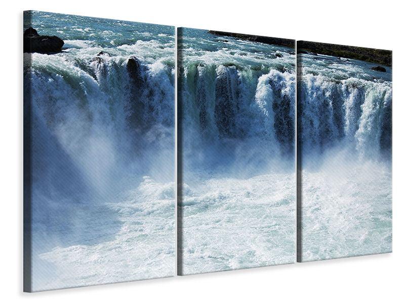 Leinwandbild 3-teilig Mächtiger Wasserfall