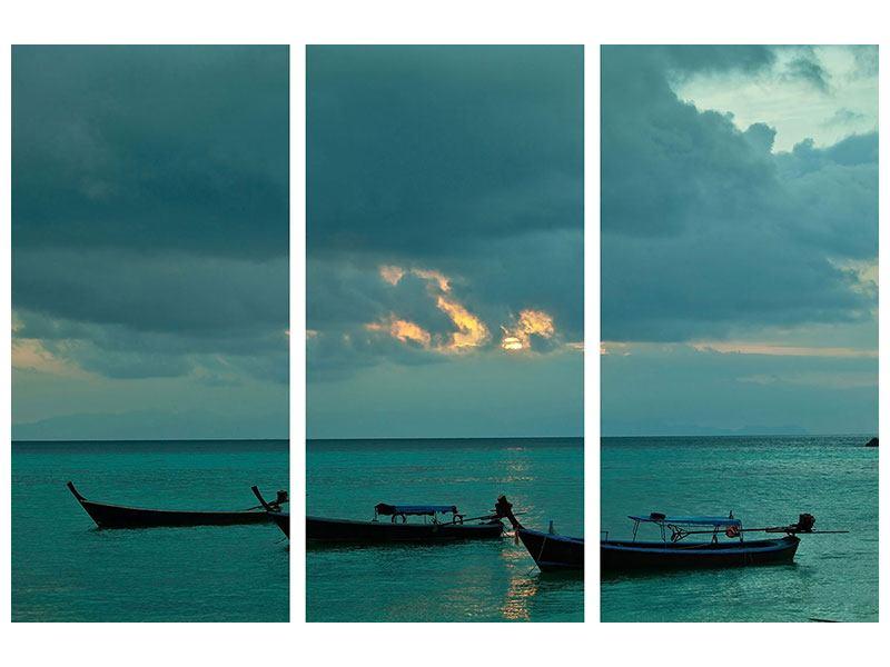 Leinwandbild 3-teilig Ozean
