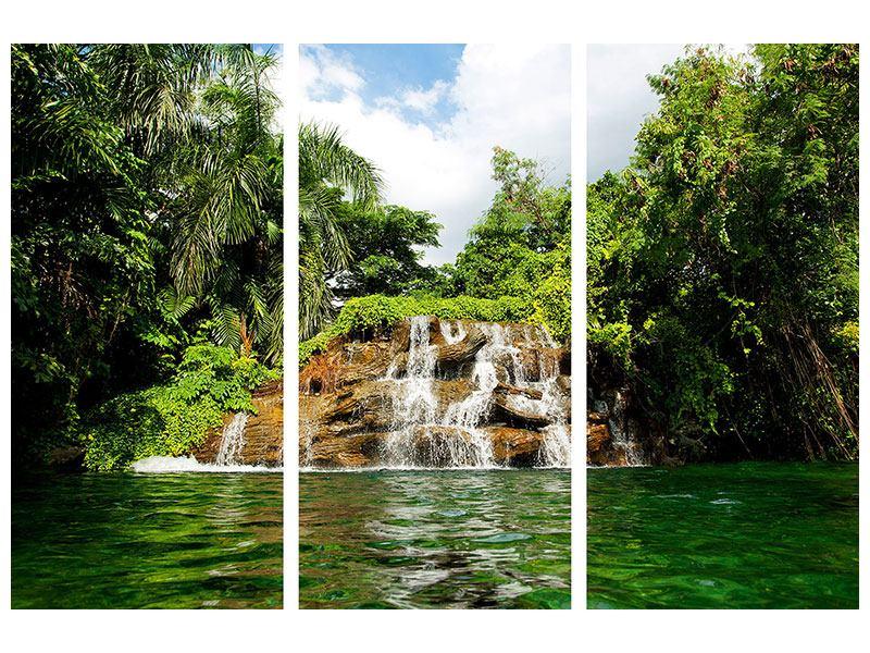Leinwandbild 3-teilig Lagune