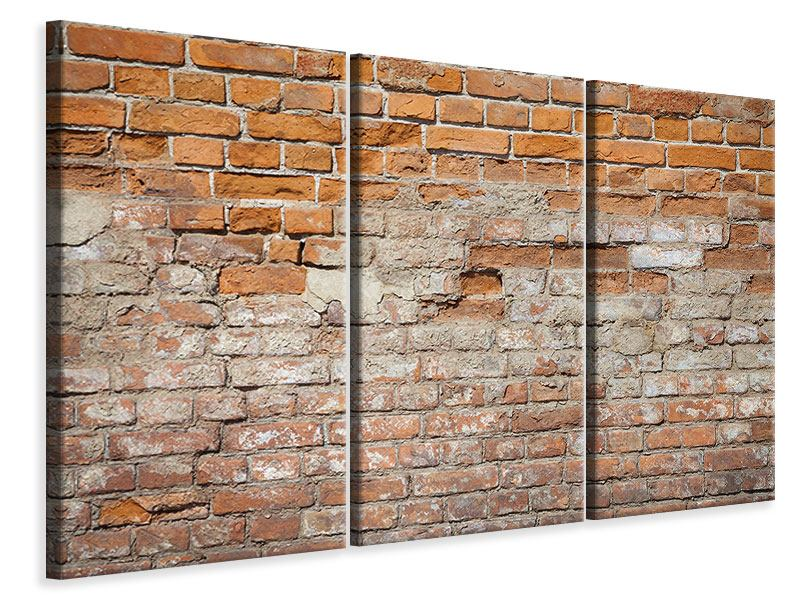 Leinwandbild 3-teilig Alte Klagemauer