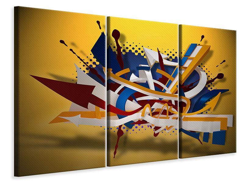 Leinwandbild 3-teilig Graffiti Art