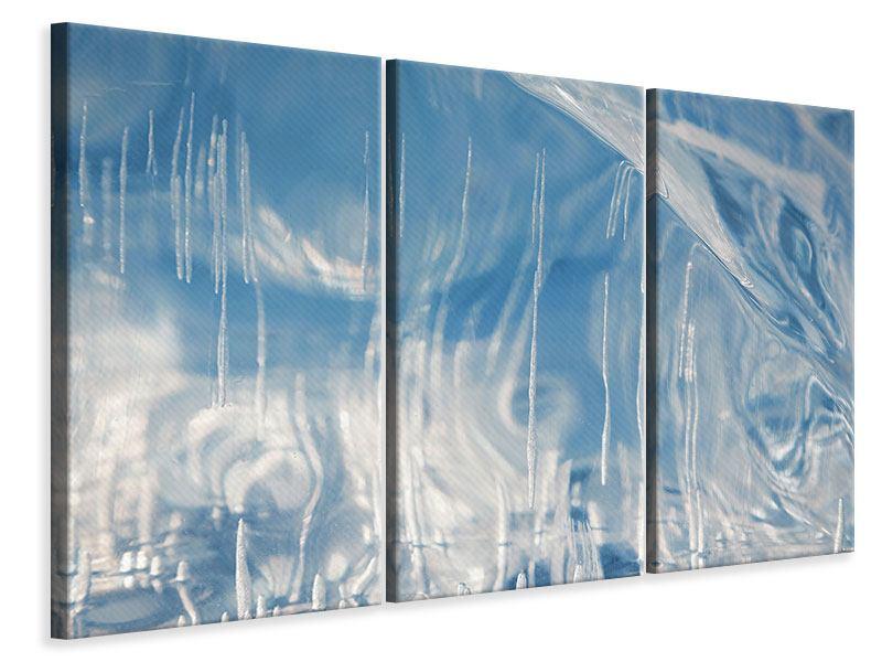 Leinwandbild 3-teilig Das Eis des Baikalsees