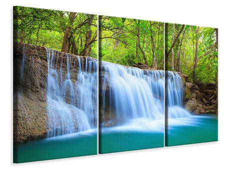 Leinwandbild 3-teilig Wasserfall Si Nakharin