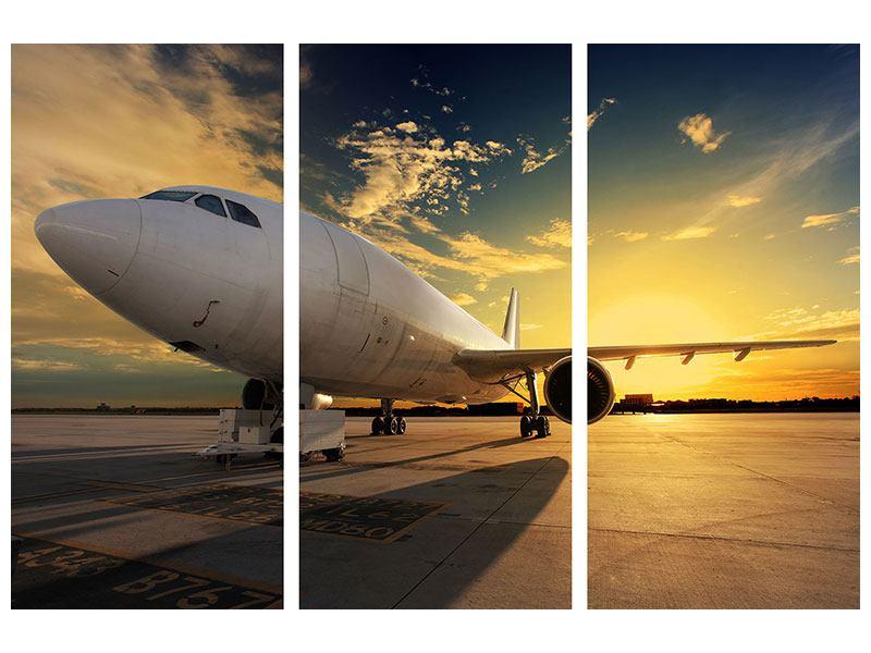 Leinwandbild 3-teilig Jet