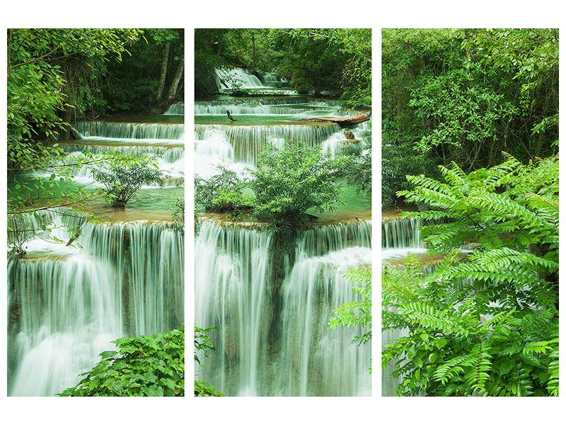 Leinwandbild 3-teilig 7 Stufen in Thailand