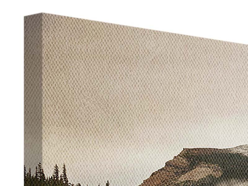 Leinwandbild 3-teilig Spiegelung im Glacier Nationalpark
