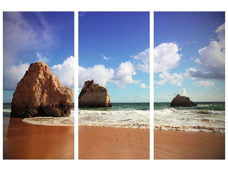 Leinwandbild 3-teilig Strandgedanken