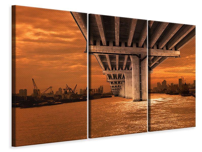 Leinwandbild 3-teilig Die Brücke
