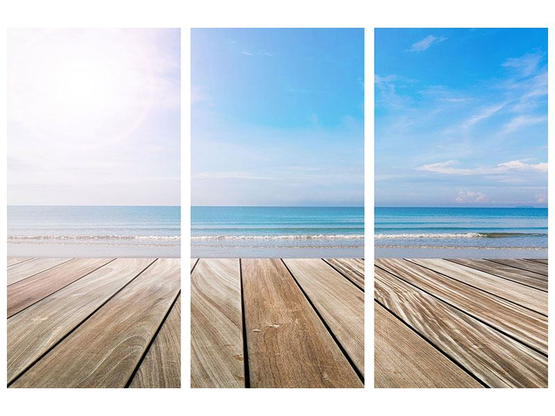 Leinwandbild 3-teilig Das schöne Strandhaus