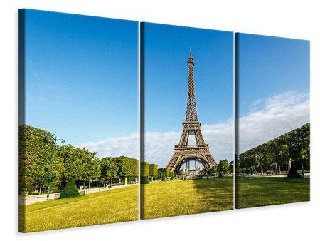 Leinwandbild 3-teilig Der Eiffelturm in Paris