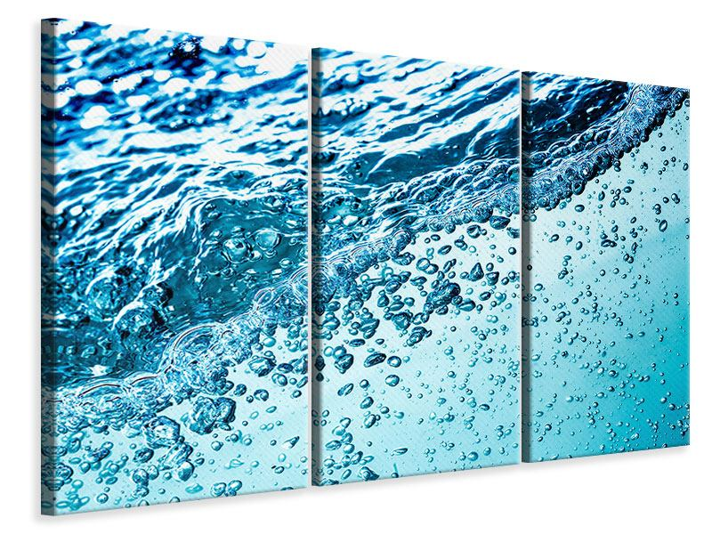 Leinwandbild 3-teilig Wasser in Bewegung