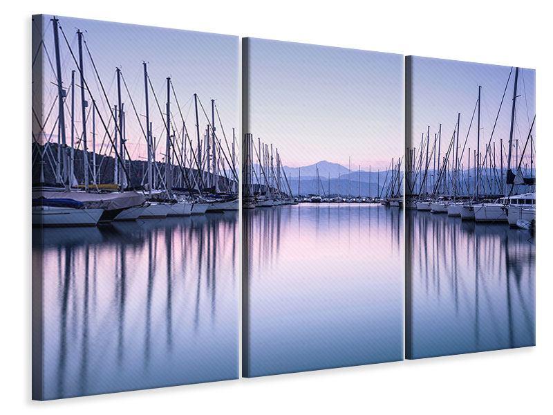 Leinwandbild 3-teilig Yachthafen