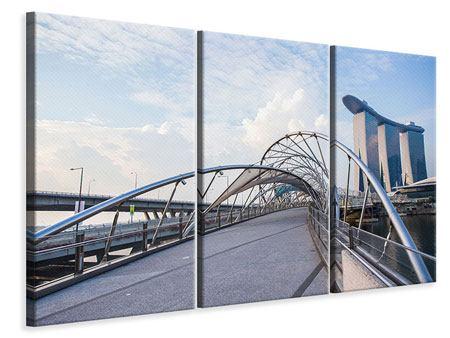 Leinwandbild 3-teilig Helix-Brücke