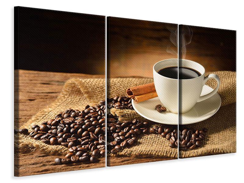 Leinwandbild 3-teilig Kaffeepause