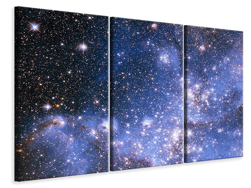 3 Piece Canvas Print Starry Sky