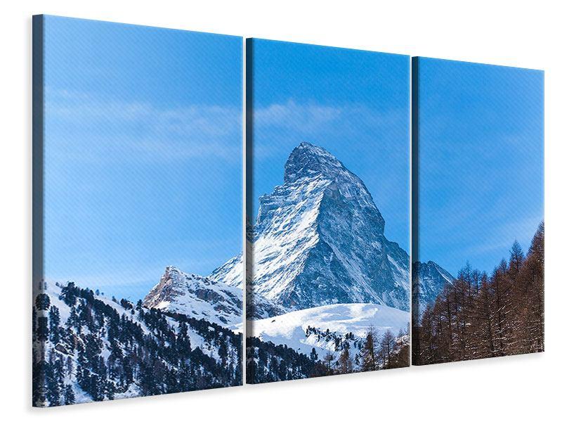 Leinwandbild 3-teilig Das majestätische Matterhorn