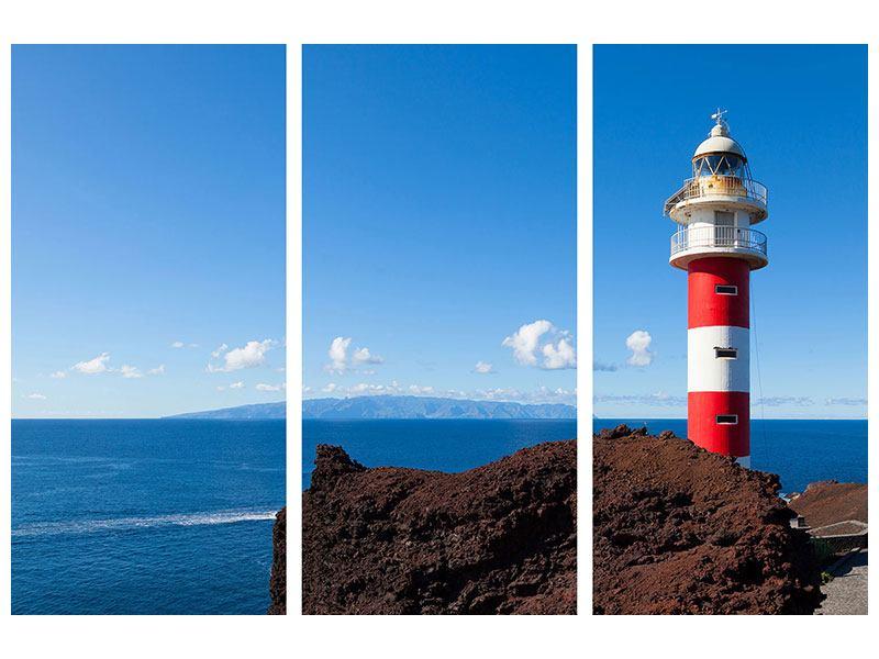 Leinwandbild 3-teilig Leuchtturm in Punta Teno