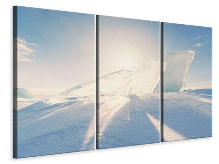 Leinwandbild 3-teilig Eislandschaft
