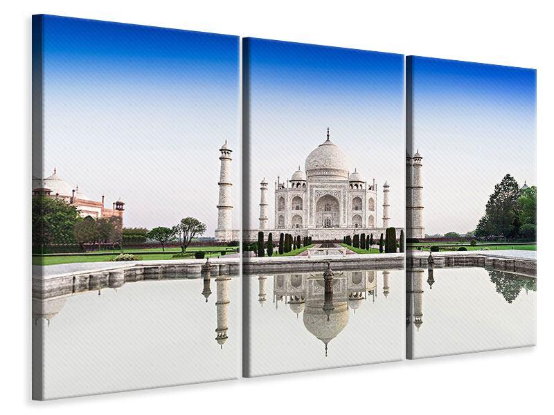 Leinwandbild 3-teilig Taj Mahal