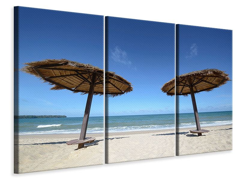 Leinwandbild 3-teilig Umbrellas