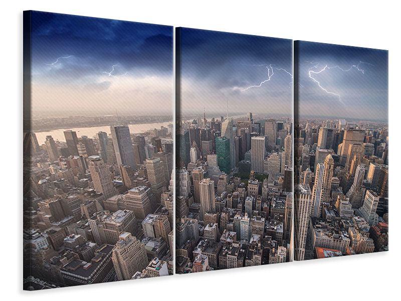 Leinwandbild 3-teilig Manhattan
