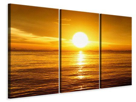 Leinwandbild 3-teilig Traumhafter Sonnenuntergang