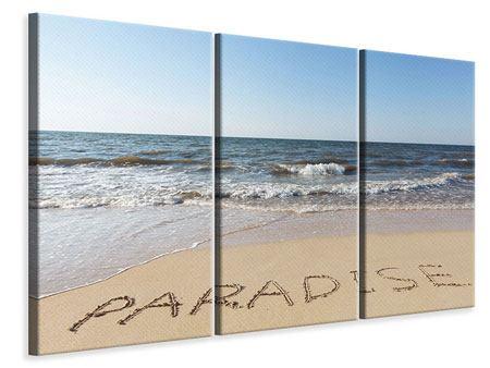 Leinwandbild 3-teilig Sandspuren