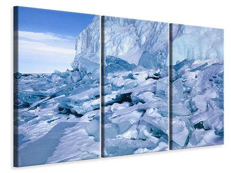 Leinwandbild 3-teilig Eislandschaft Baikalsee