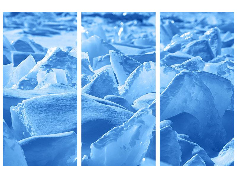 Leinwandbild 3-teilig Eis des Baikalsees